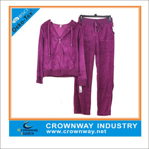 Promotional Women Cheap Wholesale Velour Nightgrown Tracksuits pictures & photos