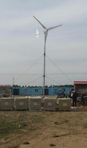 5kw Horizontal Wind Turbine and Solar Panel System pictures & photos