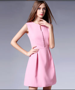 New Design Women′s Ladies Sleeveless Fashion Polyester Dress pictures & photos
