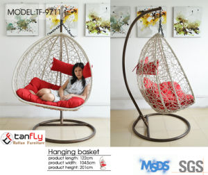 Firm Hanging Chair with Fire Resistant Cushion