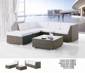 Modern Corner L Shaped Balcony Rattan Wicker Sofa Set
