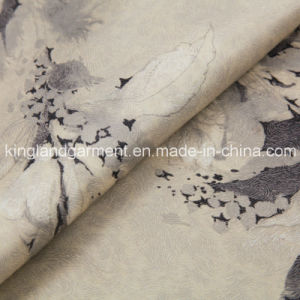 Polyester Flower Print Wide Width Inherently Fire Retardant Fireproof Satin Fabric pictures & photos