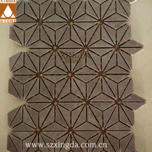 China Grey Triangle Design Marble Mosaic Wall/Floor Tile - China ...
