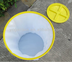 Spiral Pop up Collapsible Pet Food Bin in Red Blue Yellow Color