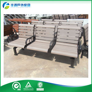 Fine Galvanized Steel And Wood 3 Seaters Garden Bench Seat With Metal Legs Fy 042X Bralicious Painted Fabric Chair Ideas Braliciousco