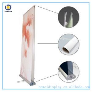 "Aluminum Roll up Stand with Double Sides, Luxury Wide and Broader Base Pull up Banner, 33.5"" * 79"" Inch Roll up Size"