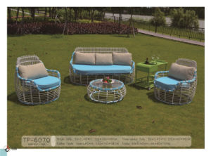 French Style Rattan Patio Garden Furniture with Trolley