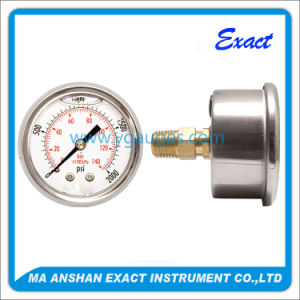 Back Entry Liquid Filled Pressure Gauge