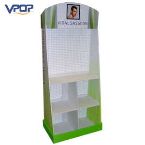 Corrugated Cardboard Pegboard Display Stand for Skincare Product