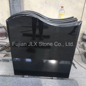 Jet Black Granite Gravestone/Tombstone/Headstone