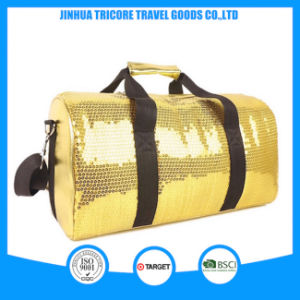 2015 Good Sale Useful PU and Gold Sequin Traveling Bag pictures & photos