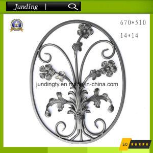 China Decorative Wrought Iron Flower Panel For Iron Railing Iron