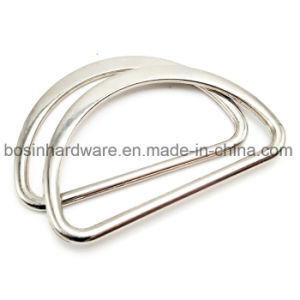 "1 1/2"" Metal Flat Half D Ring for Buckle"