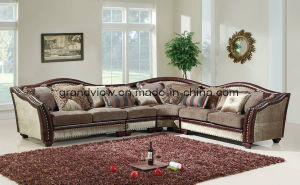 Living Room Sofas American Style Fabric Sofa Set pictures & photos