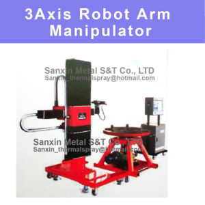 3 Dimension 3D Manipulator & Robot Arm Control Center and Rotary Workplace Platform with Programmable System for Thermal Spray Coating Spraying Painting