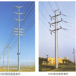 35kv Steel Pole Tower with Zinc Coating pictures & photos
