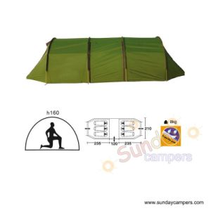 6 Person Double Layeres Two Rooms Camping Tent (SCC-910) pictures & photos