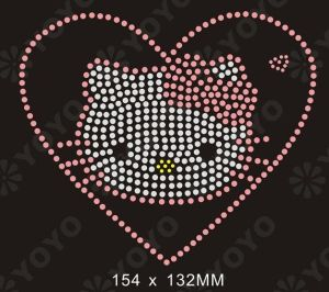 Hot Fix Rhinestone Transfer Motif Heart