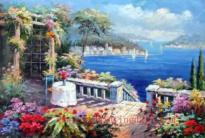 Mediterranean Oil Paintings On Canvas (T94)