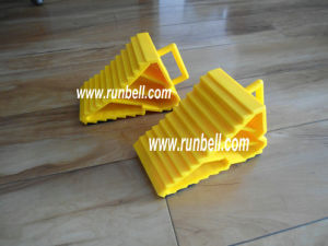 Yellow Plastic Wheel Chock Stopper for Cars (TS008)
