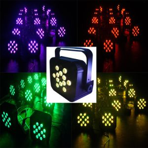 12*10W RGBW 4in1 Quad Square Box Flat Slim Stage LED PAR Wash Uplight pictures & photos