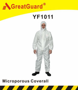 Spray and Blasting Microporous Type 5&6 Coverall (YF1011) pictures & photos