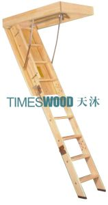 Elegant Wooden Folding Loft Ladder (non-insulated model) pictures & photos