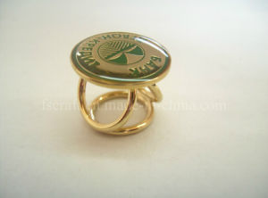 Gold Plating Metal Scarf Ring with Custom Logo