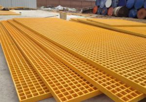 FRP/GRP Grating, Fiberglass Pultruded Grating, Pultruded Profiles, High Anti-Fire pictures & photos
