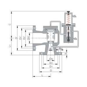 pilot-operated pressure relief valve (tfa46c type)