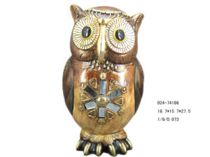 Home Decoration Polyresin Owl Figurine (D24-74186)