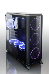 OEM Factory Tempered Glass RGB Fan 7color MID Tower Gaming Computer Case Fob Price E Series
