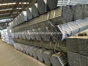 45 Galvanized 4 Holes Feed Pipe Tube for Chicken Feeding