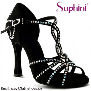 Women Shoes sandals New Lady Ballroom Latin Dance Heeled Salsa Work Stilettos