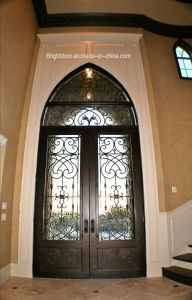 Entrance Customized Wrought Iron Swing Door pictures & photos