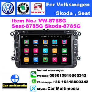 For VW SKODA SEAT 8 inch Head Unit Android7.1 GPS Navigation Car Stereo Radio BT