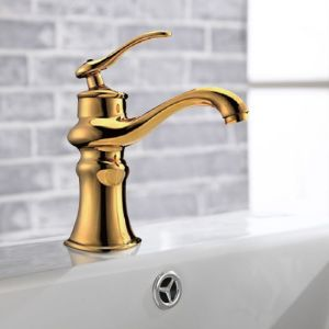 Luxury Royal Design Bathroom Golden Basin Faucet