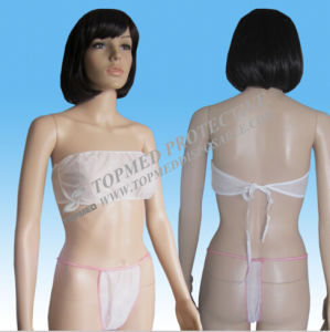 Dispsoable Nonwoven G-String Bra and G-String Panties for Women pictures & photos