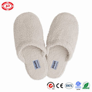 Micro Fleece Plush Soft White Hotel Quality Slipper Shoe pictures & photos