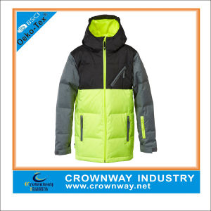 Customized Winter Colorful Thick Down Ski Jacket for Men pictures & photos