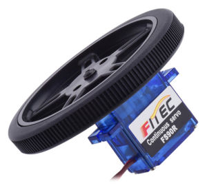 Feetech Fs90r with Wheel Micro 360 Degree Continuous Rotation Servo for Toy  Robot Electronics