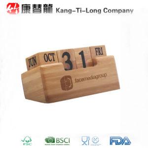 China Bamboo Promotional Perpetual Desk Calendar China Bamboo