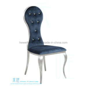 High Back Stainless Steel Fabric Chair for Hotel (HW-YH97C)