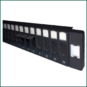 CAT6 UTP 24 Port Shuttered Plastic Blank Patch Panel pictures & photos