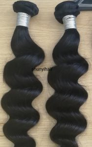 Natural Color Wave Virgin Remy Human Hair Loose Body Bundles Human Hair