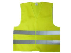 Safety Vest with High Reflective Tape Closed with Veclro Tape pictures & photos