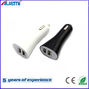 Universal Mini Portable Dual USB Car Charger for mobile Phone