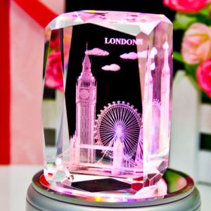 3D Crystal Laser Engraving Cube Craft for Souvenir Glass Decoration pictures & photos