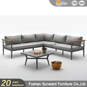Wholsale Hot Sale Modern Us Style Customized Garden Patio Hotel Home Resort Villa Project Living Room Leisure Aluminum Loveseater Outdoor Sofa Furniture Set