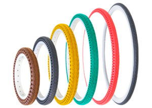 Nedong Tire 12-26, 700c Suitable for Bicycle Anti-Puncture Never Go Flat Airless Recyclable Elasticity Tire